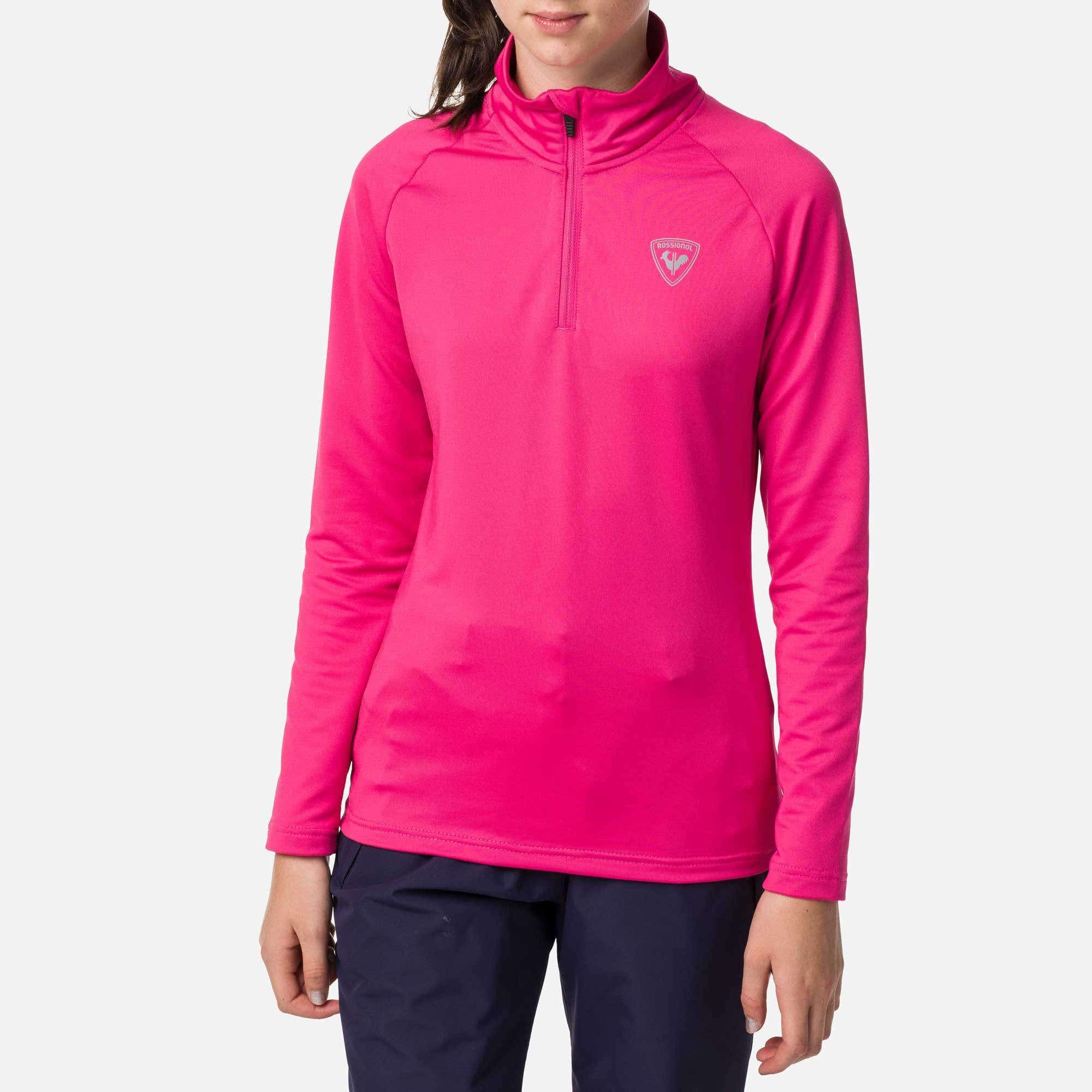 Image of Girl's 1/2 Zip Warm Stretch Layer