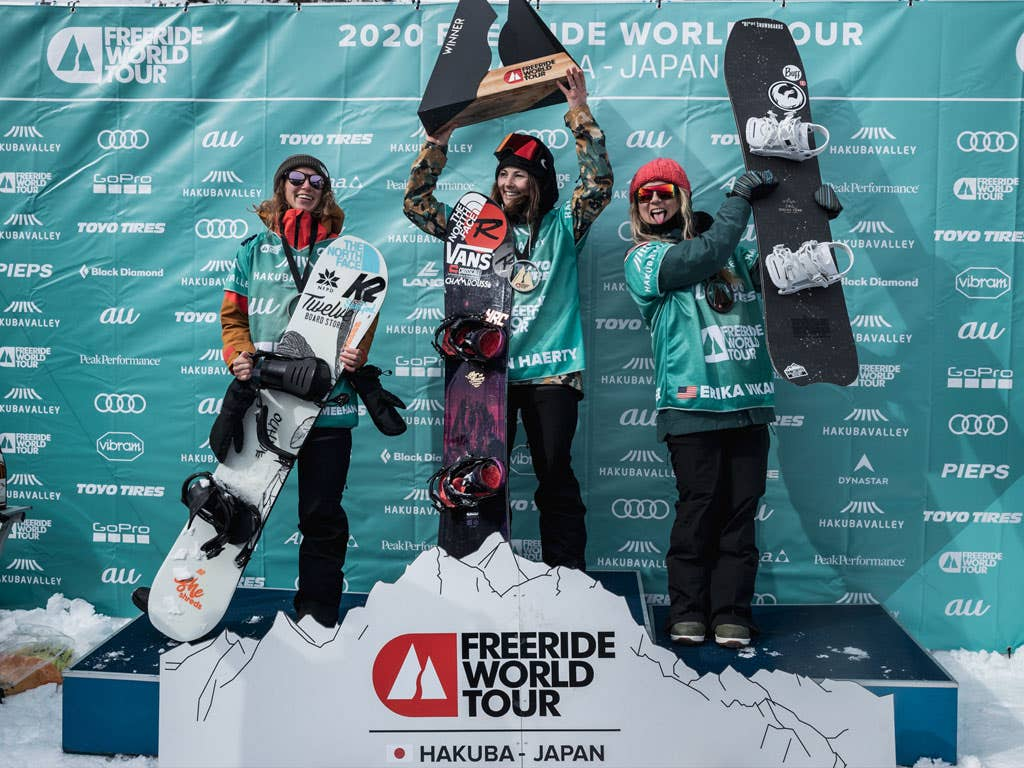 First competition and first victory for Marion Haerty