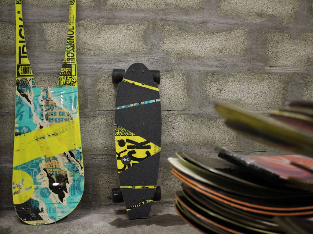 NoK Factory, the second life of snowboards