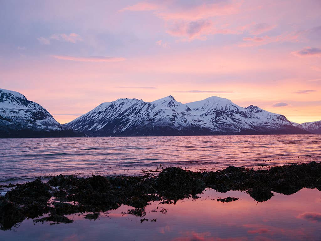 The arctic circle : 24 hours of skiing, surfing, and camping in Norway