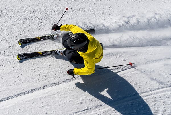 Rossignol Skier on groomed trails