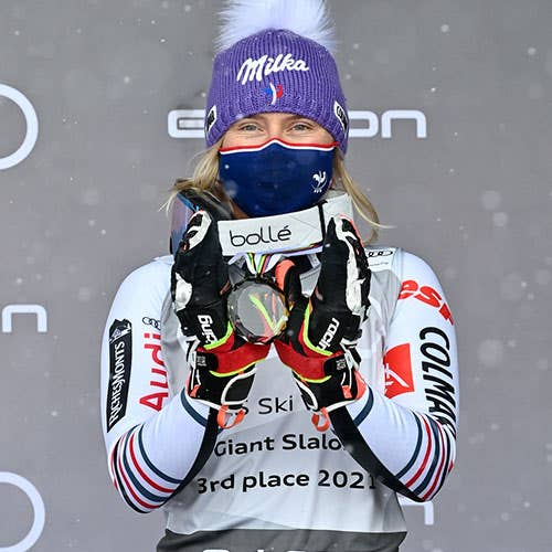 Tessa Worley came third at the Giant ranking
