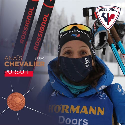 Anais Chevalier, bronze medal pursuit