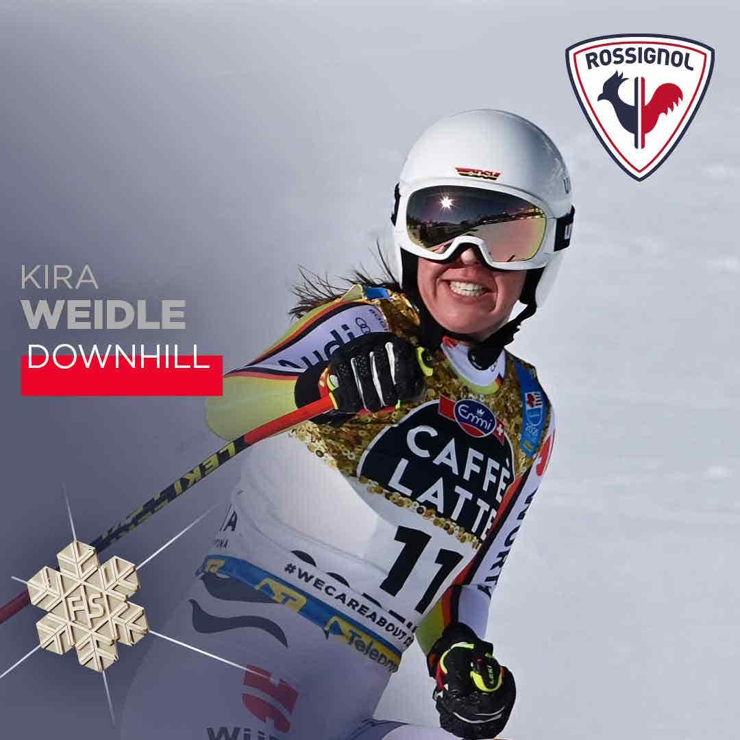 Keira Weidle, downhill silver medal